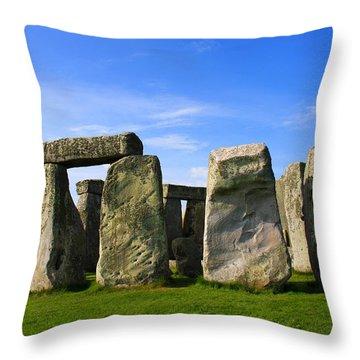 Stonehenge No 1 Throw Pillow by Kamil Swiatek