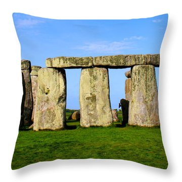 Stonehenge No 2 Throw Pillow by Kamil Swiatek