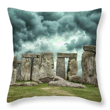 Stonehenge Storms Throw Pillow