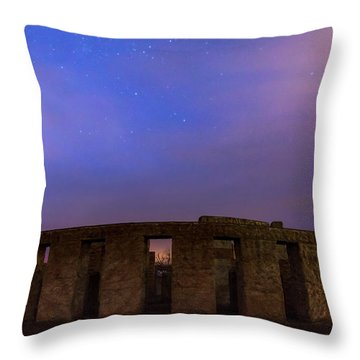 Throw Pillow featuring the photograph Stonehenge Sunrise by Cat Connor
