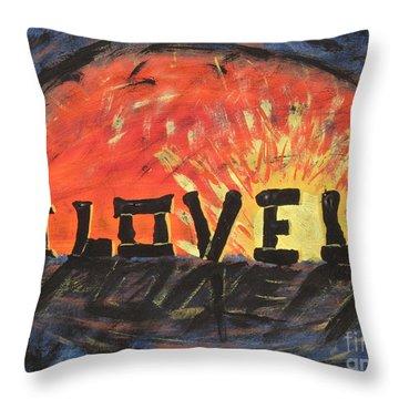 Stonehenge Sunrise Throw Pillow