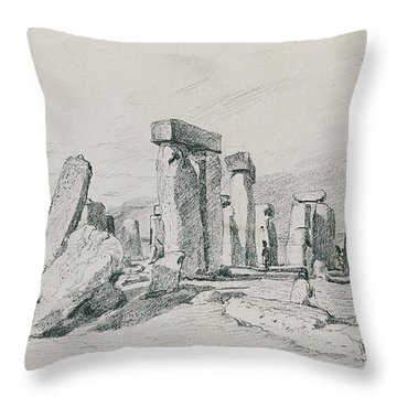 Stonehenge Wiltshire Throw Pillow by John Constable
