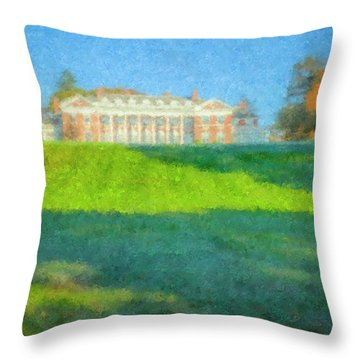 Stonehill College In October Throw Pillow