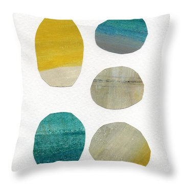 Stones- Abstract Art Throw Pillow