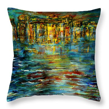 Stonehenge Arising Throw Pillow