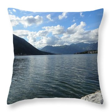 Stones And Sea  Throw Pillow by Vineta Marinovic