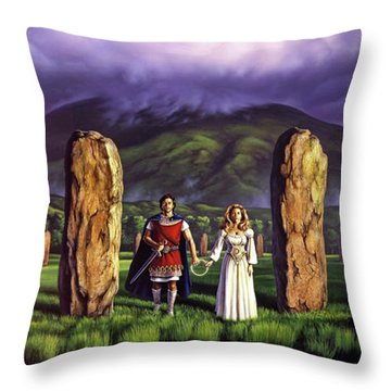 Stones Of Years Throw Pillow