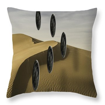 Throw Pillow featuring the photograph Stones Over Dunes One by Kevin Blackburn