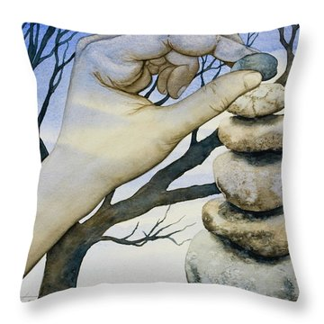 Stones Throw Pillow by Sheri Howe
