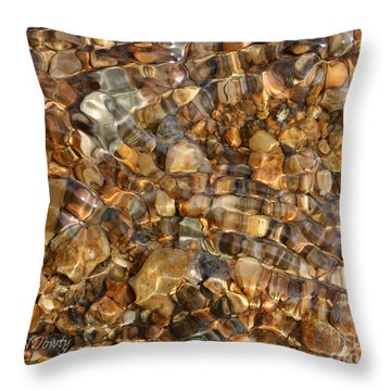 Stones Through Ripples Throw Pillow
