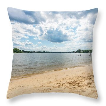Sand, Sky And Water Throw Pillow