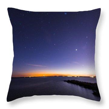 Stonington Skies Throw Pillow