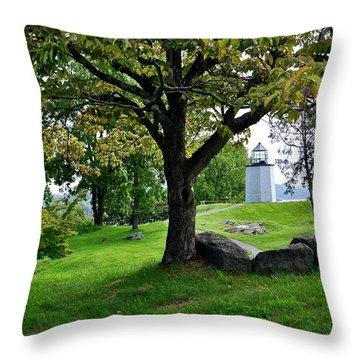 Stony Point Landscape Throw Pillow