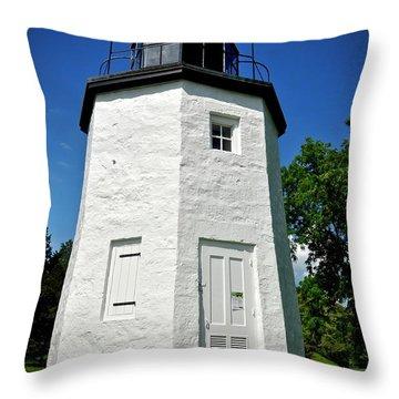 Stony Point Lighthouse Throw Pillow