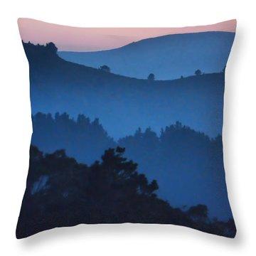 Stood Alone On The Mountain Top Throw Pillow
