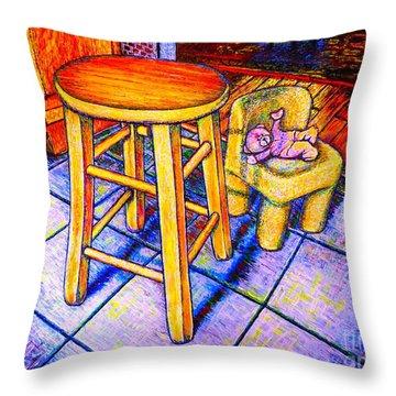 Stool Throw Pillow by Viktor Lazarev