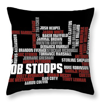 Stoops Greatest Sooners Throw Pillow