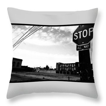 Throw Pillow featuring the photograph Stop All Way by Christopher Woods