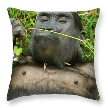 Stop And Smell The Grass Throw Pillow
