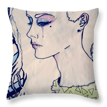 Stop Crying. Throw Pillow by Zara Ali