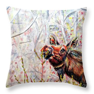 Stop To Smell The Weeds Throw Pillow by Tracy Rose Moyers
