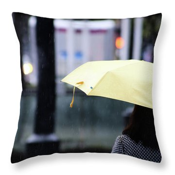Stop To Thoughts  Throw Pillow by Empty Wall