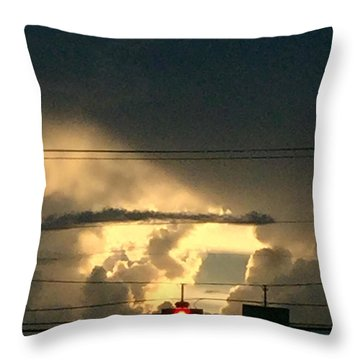 Stoplight In The Sky Throw Pillow