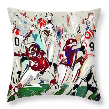 Throw Pillow featuring the painting Stopped by John Jr Gholson