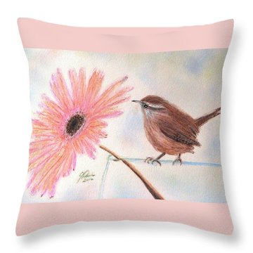 Stopping By To Say Hello Throw Pillow