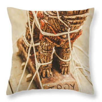 Stories From Ancient Troy Throw Pillow