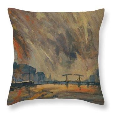 Storm 18012018 Amstel Amsterdam Throw Pillow
