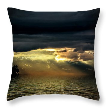 Storm 4 Throw Pillow