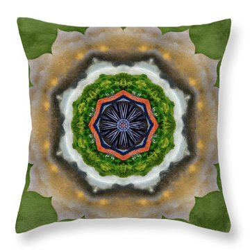 Storm Above Throw Pillow by Jeff Kolker