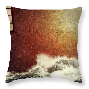 Storm Against The Walls Throw Pillow