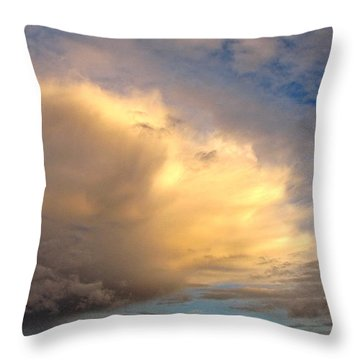 Throw Pillow featuring the photograph Storm Approach by Sean Griffin