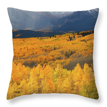 Storm At Ohio Pass During Autumn Throw Pillow by Jetson Nguyen