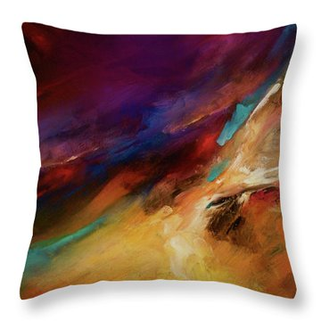 Storm At Sea Throw Pillow by Michael Lang