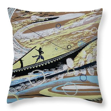 Storm At The Sea Throw Pillow