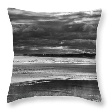 Throw Pillow featuring the photograph Storm Beach by Adrian Pym