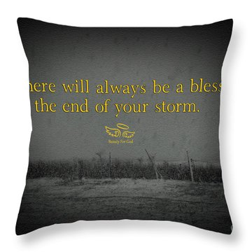 Storm Blessings Throw Pillow