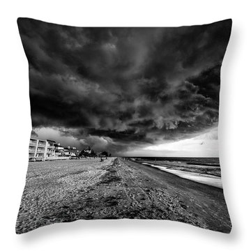 Storm Brewing Throw Pillow