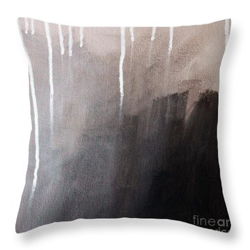 Storm Brewing Throw Pillow by Linda Woods