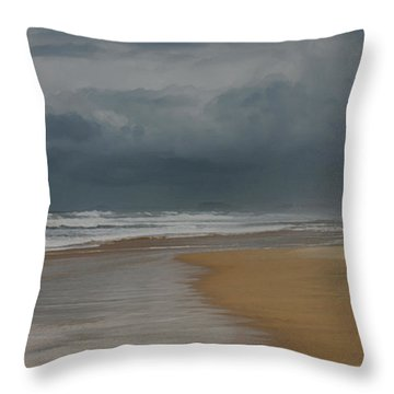 Storm Brewing On The Gold Coast Throw Pillow