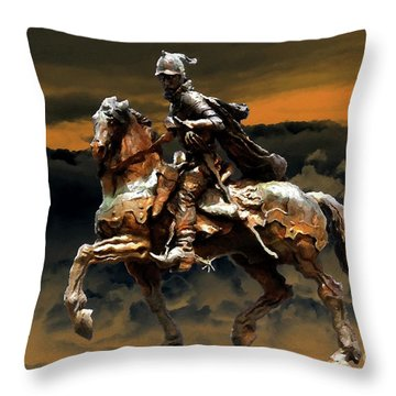 Storm Bringer Throw Pillow by David Lee Thompson
