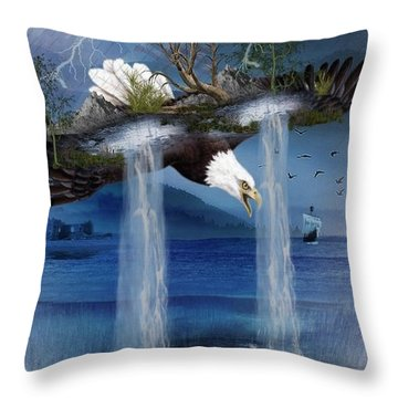 Storm Catcher Throw Pillow