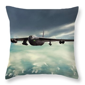 Throw Pillow featuring the digital art Storm Cell by Peter Chilelli