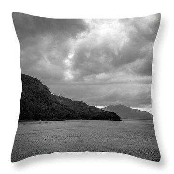 Storm On The Isle Of Skye, Scotland Throw Pillow