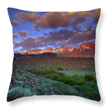 Storm Clearing Over The Sierras Throw Pillow