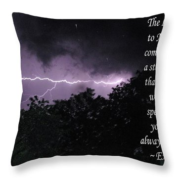 Storm Cloud Throw Pillow by Robyn Stacey
