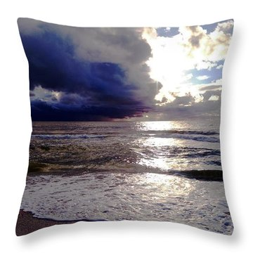 Storm Clouds 1 Throw Pillow by Vicky Tarcau